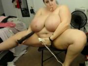 Mara Jane bbw cam girl masturbates on cam