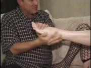 Mature Kari Kums Gives Great Footjob