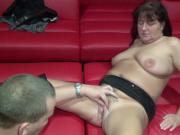German Granny get fucked in Gangbang in SwingerClub