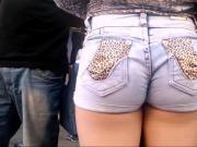 Novinha da short jeans