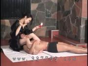 Japanese kimono mistress K enjoy the slave in hot wax