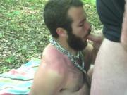 bear fuck of in a forest by a bear bareback