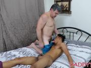 After raw ass fucking Asian twink used his feet on his daddy