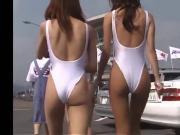 Japanese racequeen white leotard #3