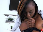 Stunning black girl Ebony gets nailed