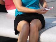 Sitting Mature Upskirt