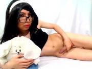 Linda travesti se masturba XD