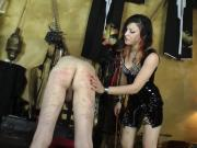 Mistress Isobel Brutally Canes Her Slave's Bare Ass!