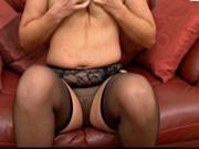 Mom play in hot pantie