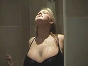 busty blonde under the shower