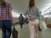 russian seductive ass in metro