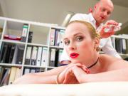 BUMS BUERO - Sexy oiled blondie fucked during massage