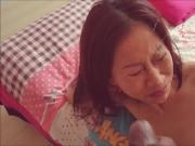 Asian mature wife huge facial