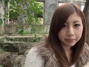 Classy Asian teen is creampied in the open