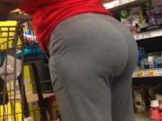 Phat Mature Ass in Grey Sweats