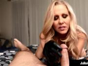 Major Hot Milf Julia Ann Wears Sexy Gloves To Do A Handjob!