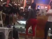 Latina mega booty in mall