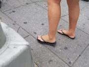 Candid feet walking by pt 2
