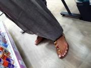 Perfect french pedicured feets, long toes