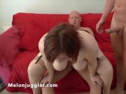 Sexy young bitch used by two men