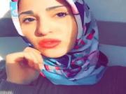 Sexy Hijabi red Lips