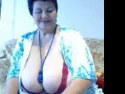 Huge tits granny in big decollete