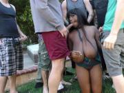 Bigtit Rachel Raxx gets white gangbang