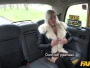 Fake Taxi Sweet blonde Milf fucked through ripped tights