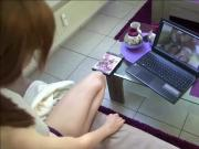 German Bro Caught Step-Sister Watch Porn and Seduce to Fuck