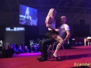 public lap dance with a flexi babe