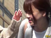 Japan babe pisses herself
