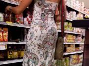 culona espiada en vestido