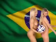 Hermosas Rubias Se Desnudan Para El Mundial 2014