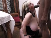 She finding her black hubby fucking busty bitch