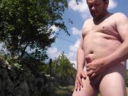 Homemade outdoor masturbation with cum