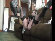 stocking panty big tit and cock trannie