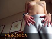 Sofia's super cameltoe in shiny pants