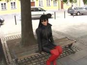 LADY ANJA-A WALK IN BLACK LEATHER