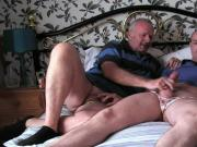 John and friend wank off in Clares dirty knickers