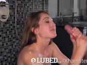 LUBED Ex christian school teacher Nina Skye lubed fuck
