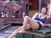 Aida Yespica si allena al GF VIP