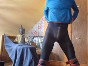 sissy spunky pantyhose wank spank