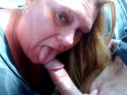 Talented cock sucker earning her money