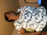 Ebony bbw granny head and swallow