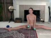 Penelope Jones enjoys sexy yoga today