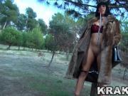 Krakenhot - Public provocation with brunette milf