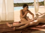 Love Massage Outdoors With Asian MILF