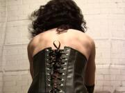 Sissy - Goths riding dildo and masturbation