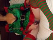 Santa's helper orgasming