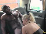 Female taxi driver plowed by black passenger